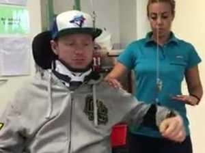 Scott Hoare tackles his rehabilitation