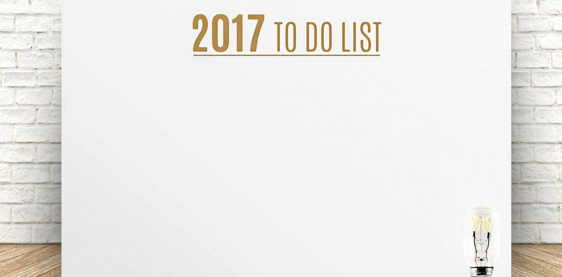 2017 To do list: Plan it, do it and you will feel better