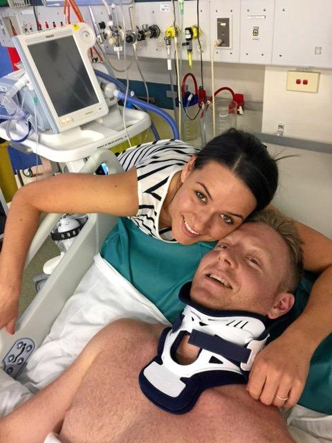 Former Gympie resident Scott Hoare with fiance Angie Minukos.