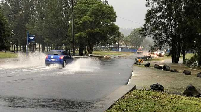 Some parts of Lismore have seen flash flooding after a storm yesterday afternoon.