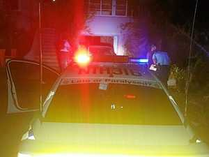Police arrest a man in a driveway in Arthur Street, Lismore after finding drugs in his car.