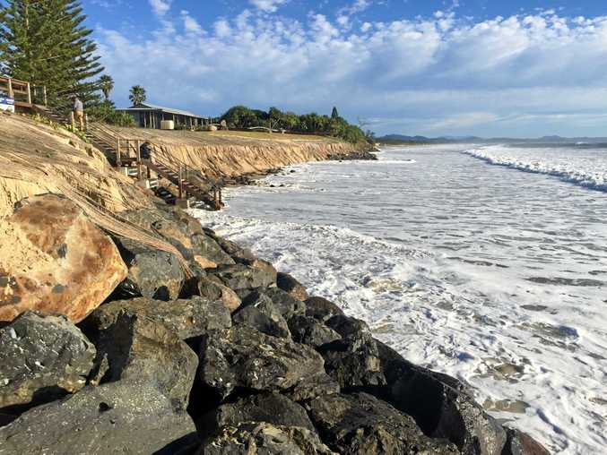 Belongil beach where a man drowned and has now been identified.