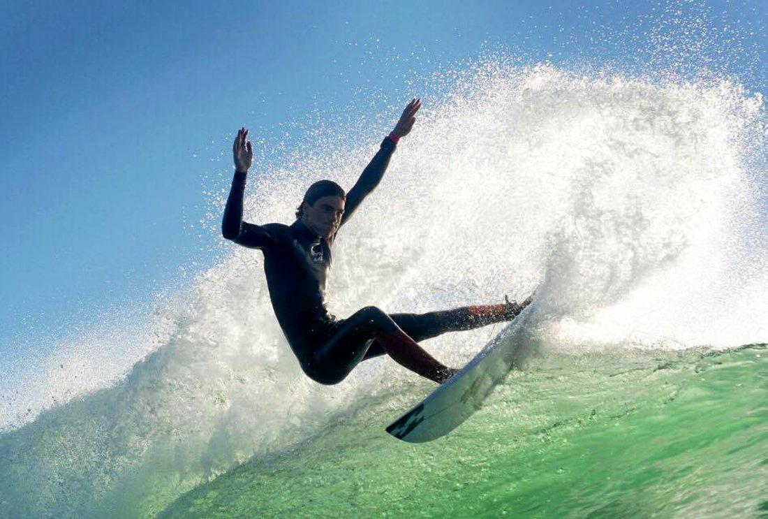TALENTED: Moffat Beach teenager Reef Heazlewood.