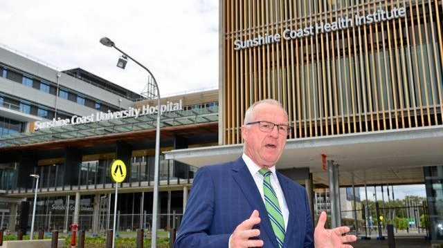Mayor Mark Jamieson launches the Sunshine Coast Council's Operation MedSchool campaign at the new Sunshine Coast University Hospital. January 3, 2017.