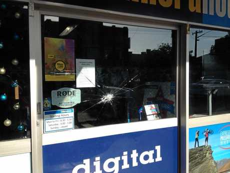 The New Camera House business in Lismore was targeted in the early hours of yesterday morning.