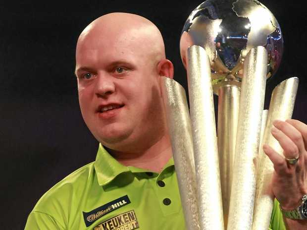 Michael van Gerwen after winning the World Darts Championship final over Gary Anderson.