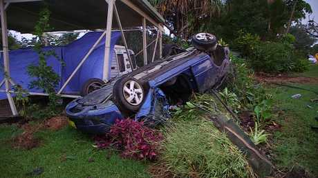 A man died following a single vehicle accident on Holloways Rd, Sandy Beach overnight.