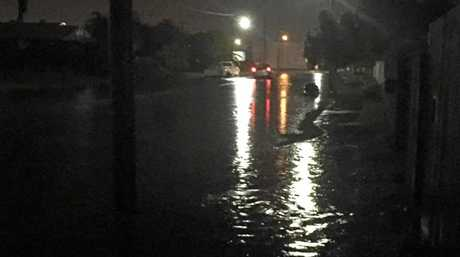 Symons Street, South Mackay during Tuesday night's deluge.