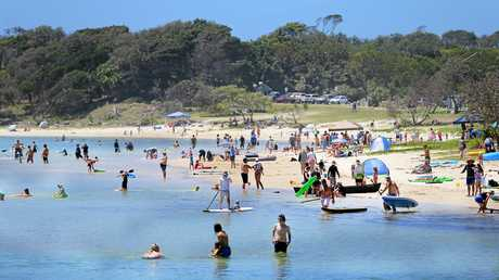 Hastings Point creek was busy as holiday makers enjoy their breaks.