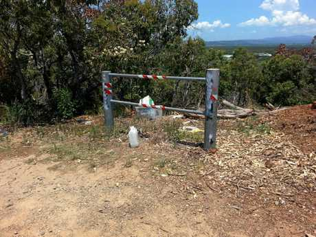 Rubbish left by visitors at Paterson Hill at Arakwal National Park on new year's eve.
