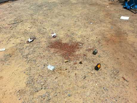 Rubbish bottles and shoes left by visitors at Arakwal National Park on new year's eve.