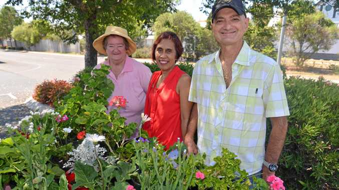 Barbara Kinsella, Linda and Louie Frosio enjoy the Warwick Community Markets.