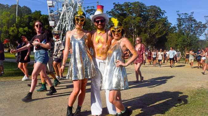 BEST DRESSED: From Sydney, Jayde Lawe, Adam burns and Jayme Burns.
