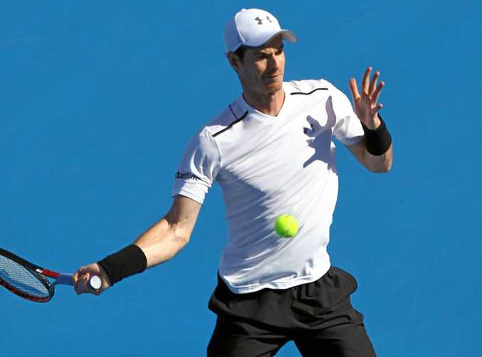 World No.1 Andy Murray in action.