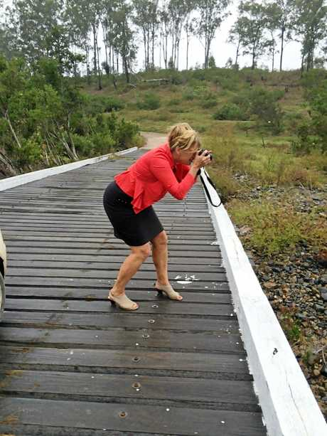 LOOK OVER THERE: Distracted by the beauty of the creek down Paddys Flat Rd outside Tabulam.