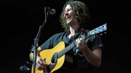Northern Rivers resident and musician Bernard Fanning performing at Falls Festival Byron Bay 2016-17.