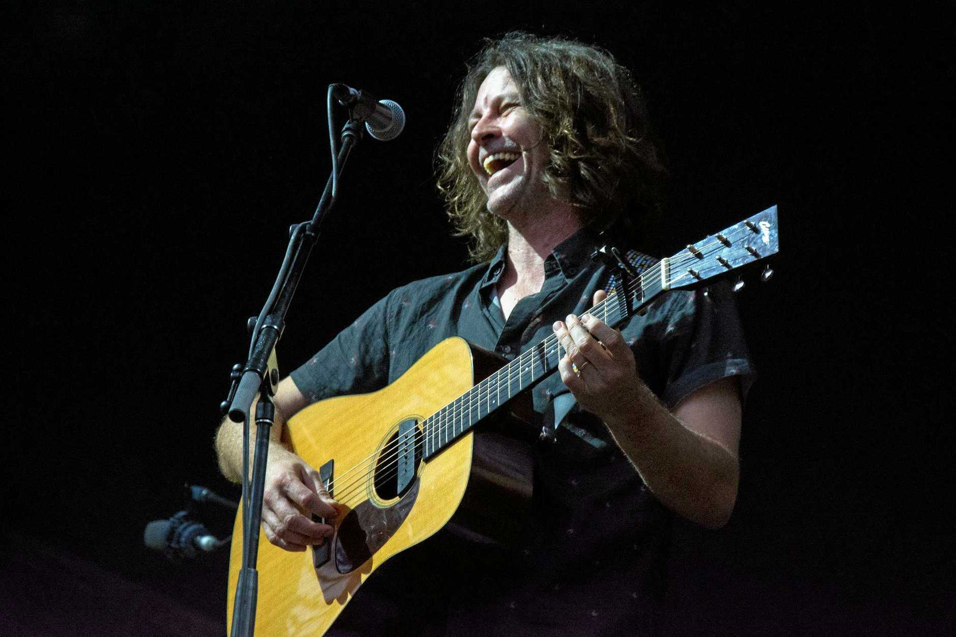 STAR PERFORMANCE: Northern Rivers resident and musician Bernard Fanning performing at Falls Festival Byron Bay 2016-17.