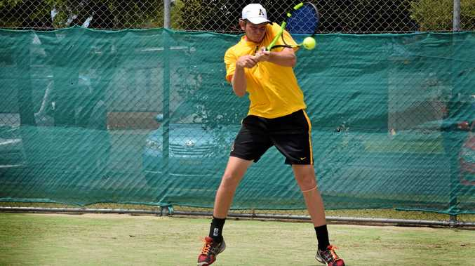 Newcastle tennis player Jack Maddocks at the Ballina New Year Open tournament.