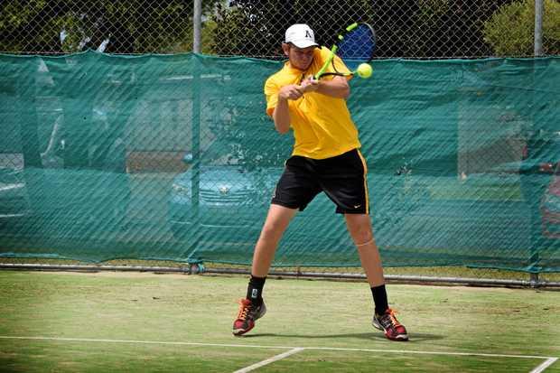 Newcastle tennis player Jack Maddocks at the Ballina New Year Open tournament.