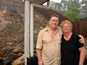 Family evacuated as deluge gushes through home