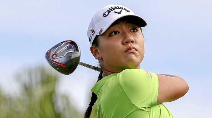 Lydia Ko of New Zealand watches a shot.