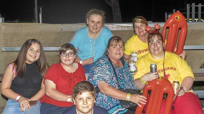 FAMILY NIGHT: Giana Pozzabon, Vanessa Petrocitto, Marie Look, Melissa Petroccitto, Sylvia Pozzebon and Joe Petroccitto.