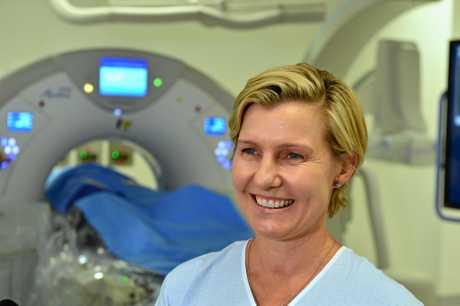 Interventional Radiologist Dr Sally Johnstone in the Australian-first Angio/CT hybrid operating room at Sunshine Coast University Hospital.
