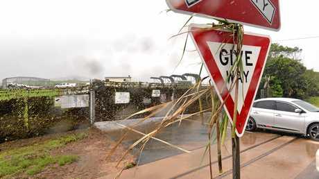 Flood debris at the Sarina waste facility.