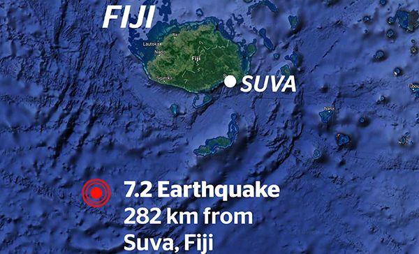 Image result for suva fiji earthquake