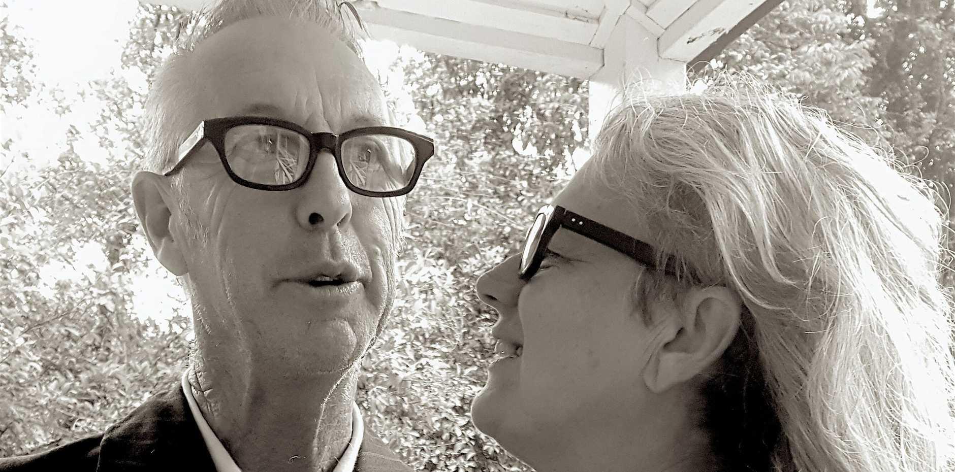 Annette Hughes with her partner Geoffrey Datson.