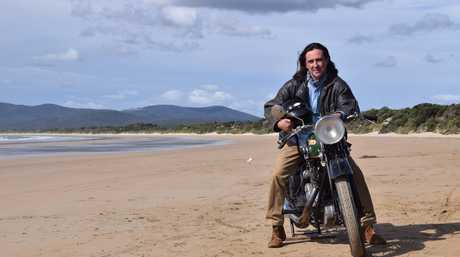 Coast Australia host Neil Oliver pictured on Baker's Beach in Northern Tasmania.