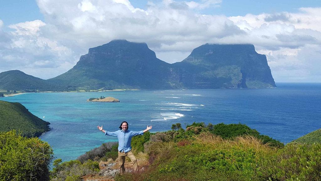 Coast Australia host Neil Oliver pictured on Lord Howe Island.