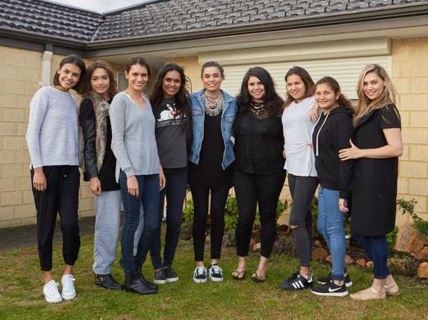 Mum Daniella Borg, third from left, and her nine daughters star in the new TV series Family Rules.