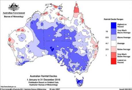 The far north, north and mid north coasts of NSW stand out in an otherwise good year for rain around the country.