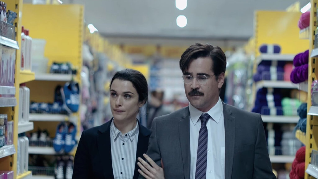 Rachel Weisz and Colin Farrell in a scene from the movie The Lobster.