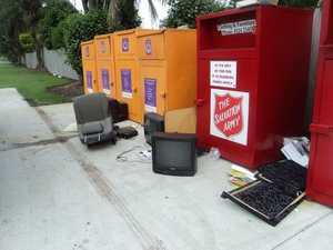 RUBBISH BEHAVIOUR: Filth left at Fraser Coast charity bins