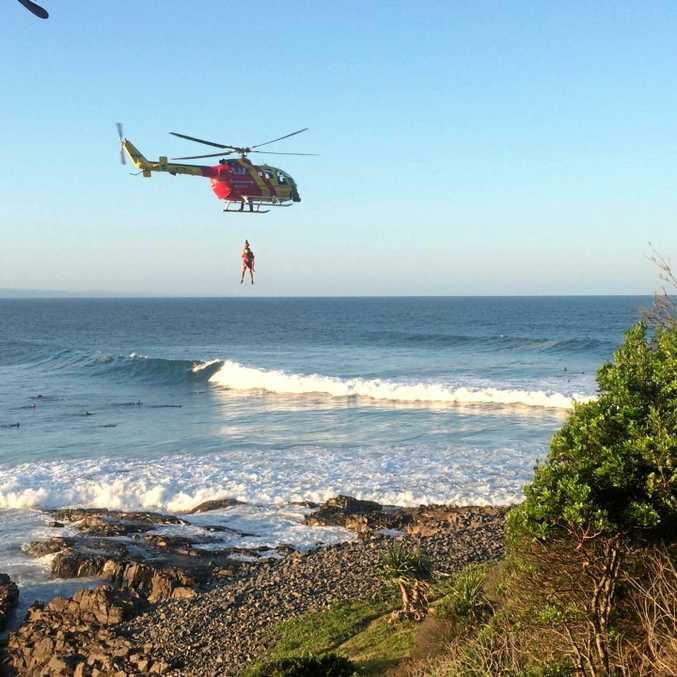 SAFETY CONCERN: Westpac Lifesaver Rescue Helicopter Service in a low rescue at Granite Bay last year.
