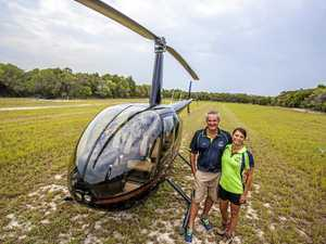 Mooloolaba couple takes chopper view