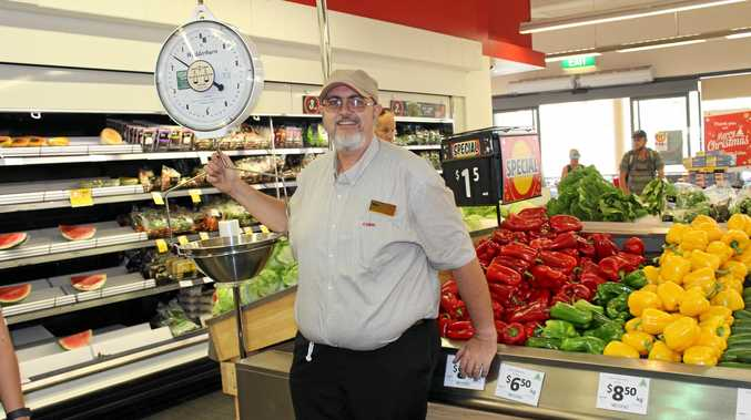 DEDICATED: Max Bignell is proud of his long career with Coles, spent entirely on the Coast.