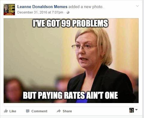 MEME ATTACK: Member for Bundaberg Leanne Donaldson has been the target of \