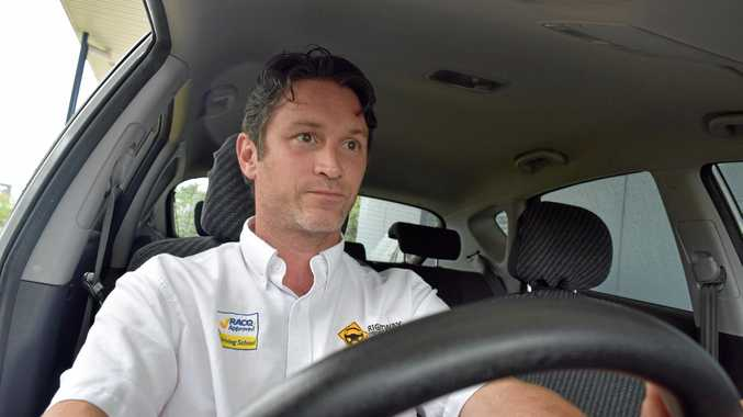 DANGEROUS: Right Way Driving School instructor Phillip Ryan says not enough drivers are keeping a safe following distance.