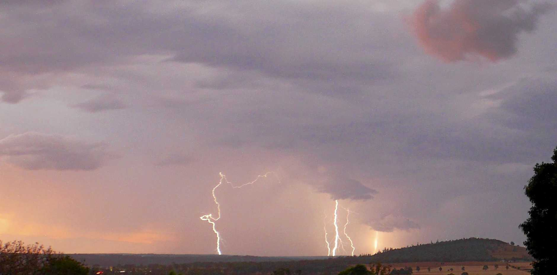 The more rain and thunder coming to the South Burnett.