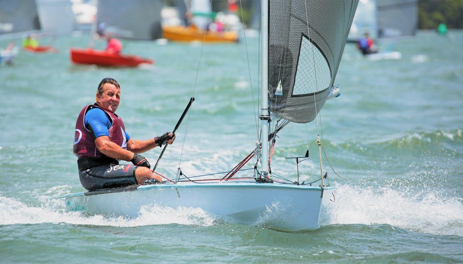 PLAIN SAILING: Ray Hobbs said the winds picked up in the last two days.