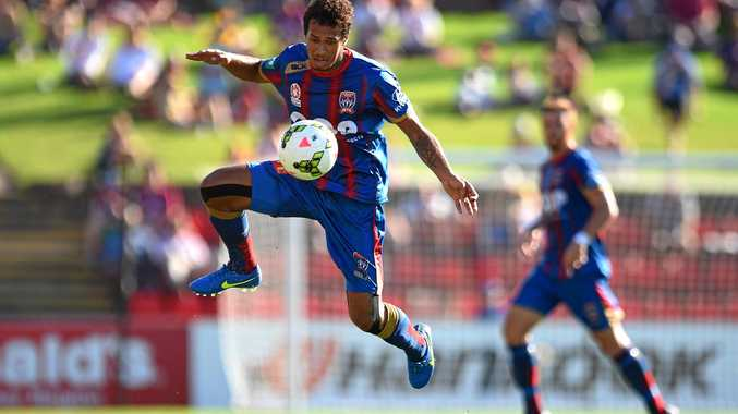 PROMISING: Mitch Cooper during his time with the Newcastle Jets.
