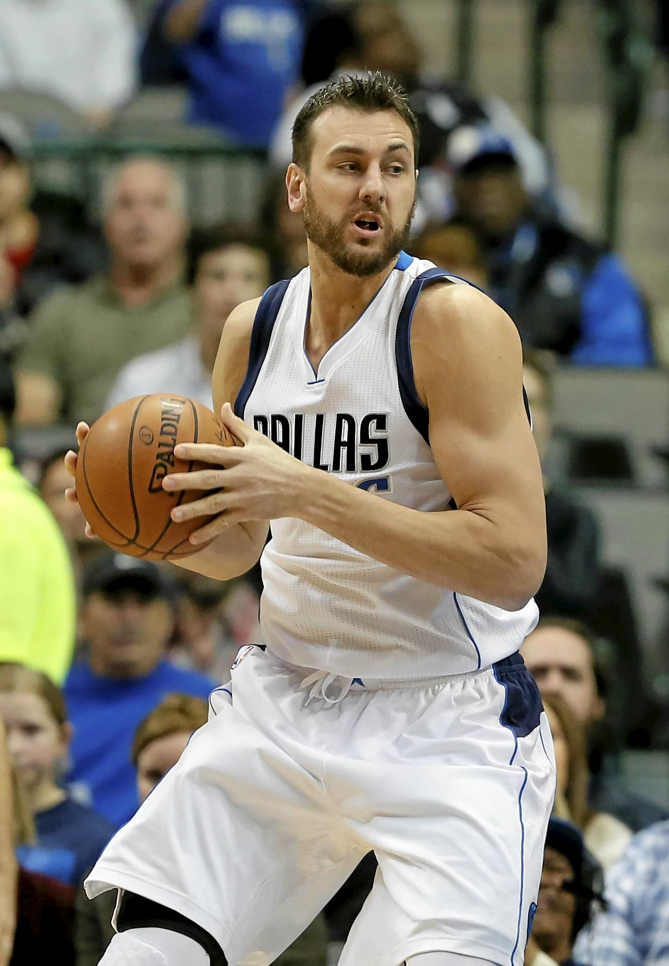 Dallas Mavericks centre Andrew Bogut, of Australia.