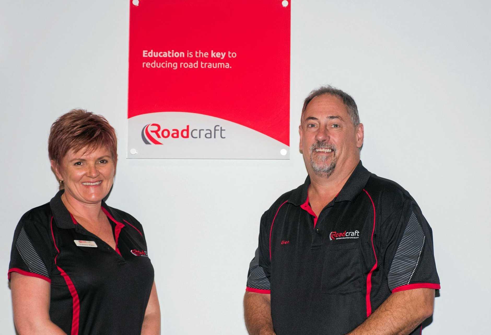 Sharlene Makin and Glen Jocumsen hope to widen the educational horizons of drivers.