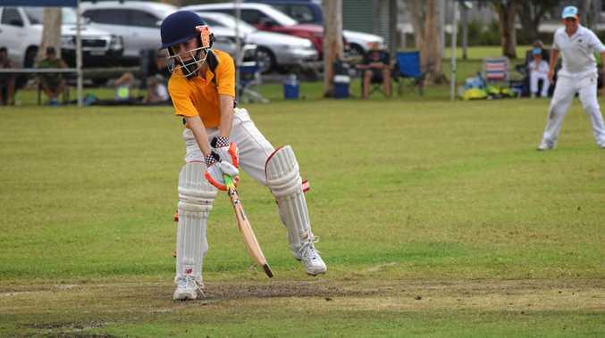 Far North Coast Green batsman Thomas Gregory against Mid North Coast in the Under-12 cricket carnival