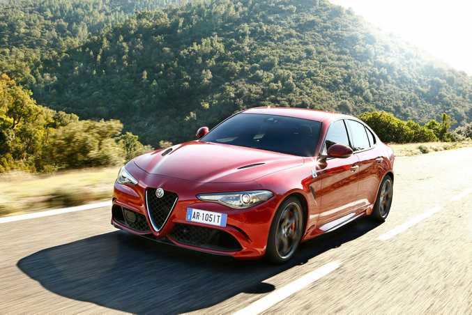 RAPID ALFA: A genuine BMW M3 and Mercedes-AMG C63 hunter, the Alfa Romeo Giulia QV, due here next month, features a 375kW twin-turbo V6 engine and hits 100kmh in 3.9-seconds. It's also the new production sedan lap record holder around the Nurburgring, and we can't wait.