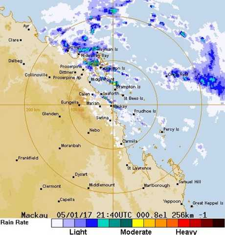 The Bureau of Meteorology's radar at 7.50am.