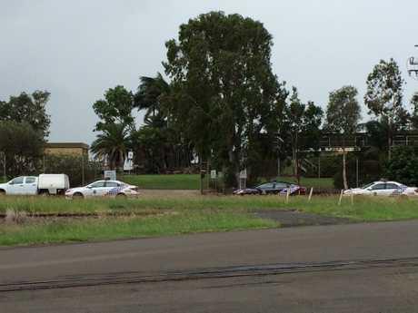 Police surround East Bundaberg St.